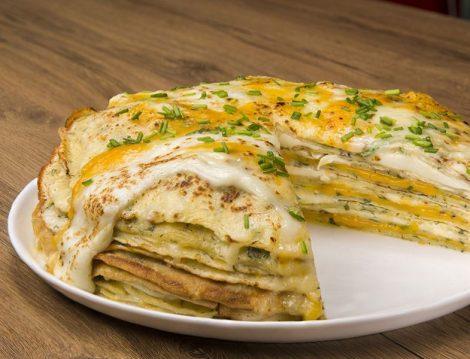 Üç Peynirli Krep Pasta Tarifi