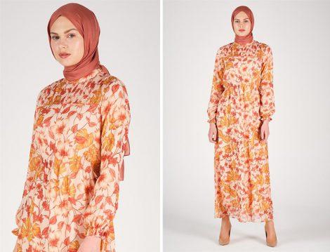 Armine 2020 İlkbahar Yaz Çiçekli Elbise