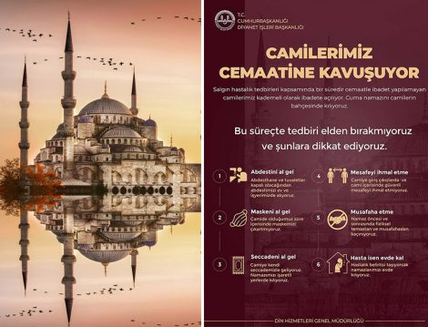 Diyanet İşleri Başkanlığı'nın Camiler İçin Hazırladığı Afiş