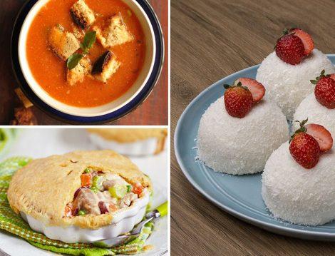 Domates Çorbası - Kremalı Sebzeli Tavuk - Fincan Tatlısı