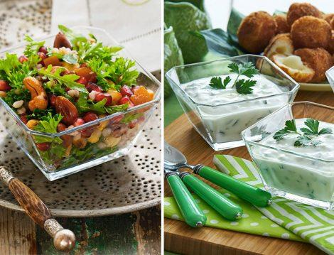 Kuru Yemişli Salata ve Cacık Tarifi