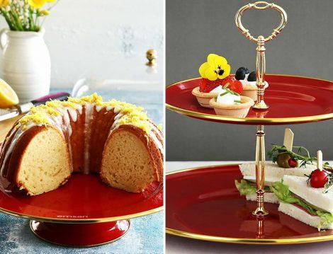 Emsan Ayaklı Kek Fanus ve Emsan Katlı Kurabiyelik