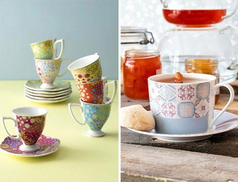 English Home Renkli Çay ve Kahve Fincanı Takımı
