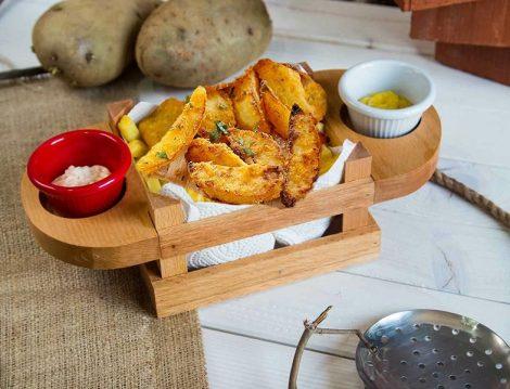 Joy Kitchen Sunum Kasası ve Elma Dilim Patates