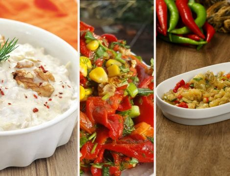 Kabak Salatası - Köz Biber Salatası - Çıt Tarifi