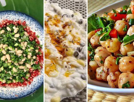 Kuru Fasulye Salatası - Buğday Salatası - Nohut Salatası