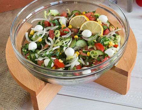Yaz Sebzeleriyle Nefis Salata Tarifleri