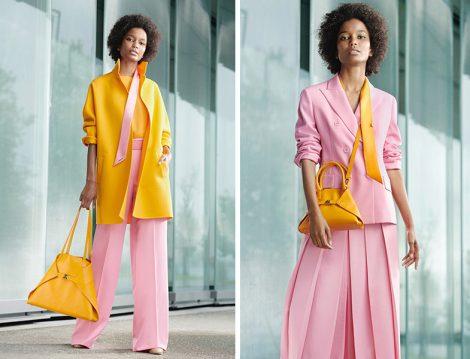 Akris Safran Ceket - Çanta ve Pembe Takım
