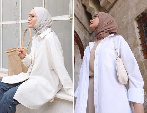 Aleyna Atalar - Vogstore ve Zara Beyaz Gömlek