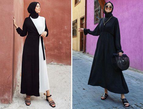 Aybükenur Demirci: Avelier Siyah Pliseli Elbise - Etha Siyah Elbise