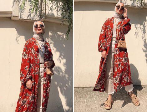 Elif Küçüksarı - Betül Barutçu Desenli Kimono