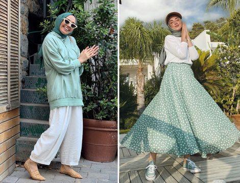 Hülya Aslan Qooq Store Mint Yeşili Tunik Takım - Sena Sever Ess Prive Etek Bluz