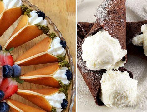 Kremalı ve Dondurmalı Külah Pasta Tarifi