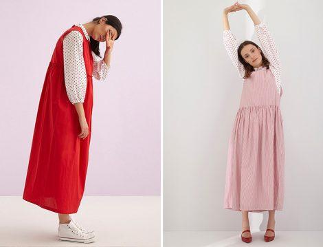 Kuaybe Gider Kırmızı Koton Jile Elbise