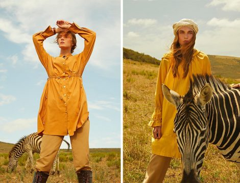 Vesna 2020 Yaz Safran Rengi Tunikler