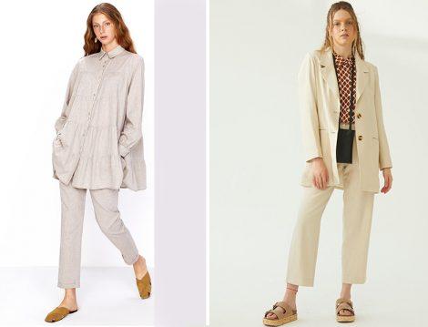 Vesna Design Keten Gömlekli Takım - Suud Collection Keten Ceketli Tasarım