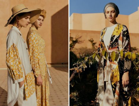 Zühre 2020 Yaz Desenli Elbise, Tunik ve Kimono