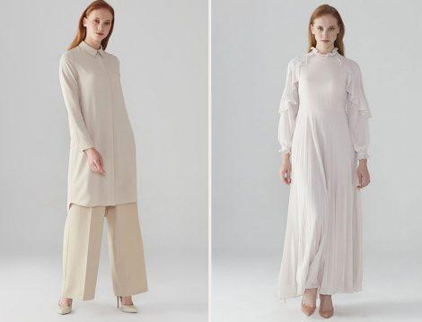 Zühre Bej Gizli Düğme Detaylı Tunik - Zühre Bej Kol Volan Detaylı Elbise