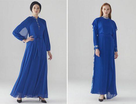 Zühre Saks Kol volan Detaylı ve Pul Payet Detaylı Elbise