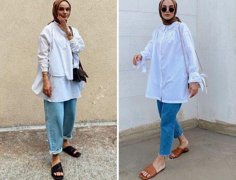 Şeyma Kaymak&Mina Aişe Beyaz Tunik