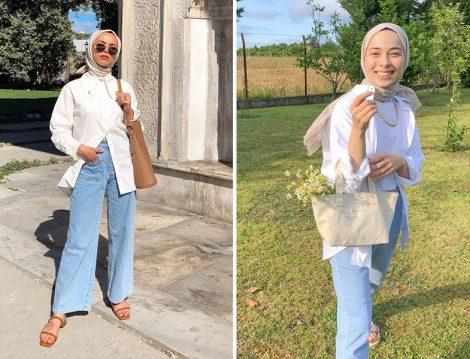 Rumeysa Düzyazan& Manuka Beyaz Gömlek - Rumeysa Yağcı&Suud Collection Beyaz Gömlek
