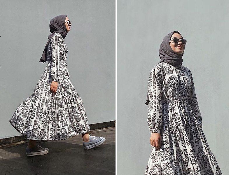 Sena Sever - Touche Official Desenli Elbise
