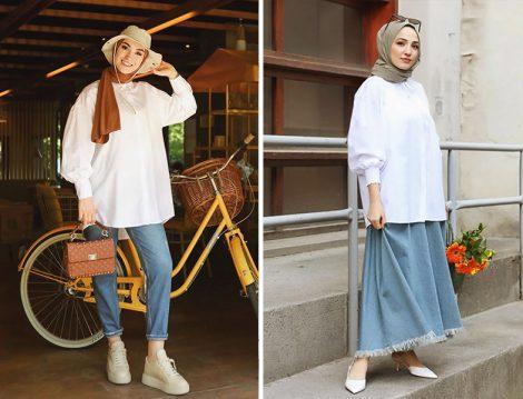 Sena Sever&Terzi Dükkanı Ekru Stil Poplin Gömlek - Gizce Beyaz Lewis Gömlek
