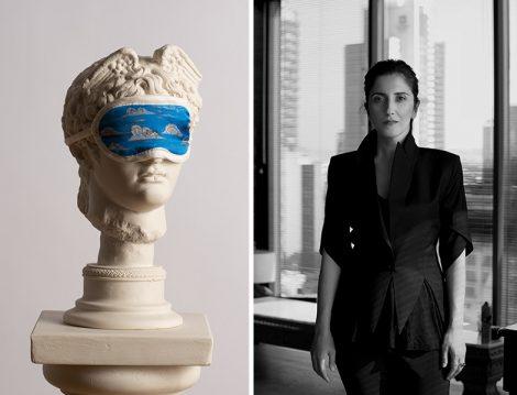 """Hatice Gökçe'den """"Minyatür 2.0"""" Sergisine Özel İpek Uyku Gözlüğü Tasarımı"""