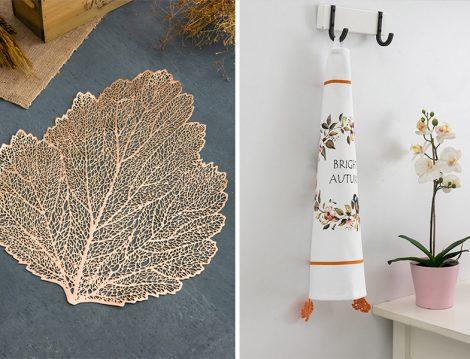 LCW Home Nar Çiçeği Yaprak Desenli Supla - LCW Home Karışık Baskılı Dantel Detaylı Kurulama Bezi