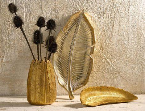 Paşabahçe Mağazaları Yaprak ve Feather Dekoratif Obje ve Tabaklar