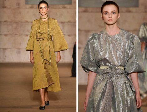 Özlem Süer 2021 İlkbahar Yaz Koleksiyonu (Altın ve Gümüş Renklerde Tasarımlar