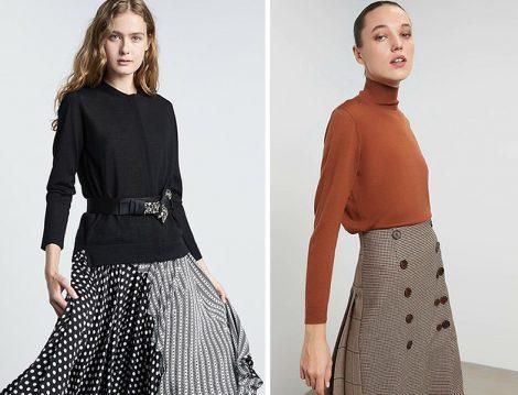 Machka Sonbahar-Kış 2020-2021 Koleksiyonu Triko Bluz ve Etekler