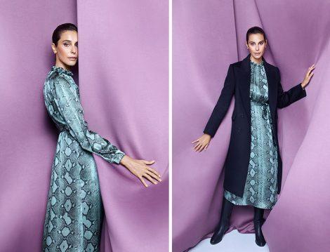 Machka Sonbahar-Kış 2020-2021 Koleksiyonu Yılan Desenli Elbise ve Manto - Arzum Onan