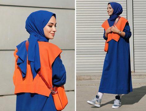 Touche Mavi Elbise ve Omuz Aksesuarı(Sena Sever)
