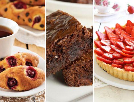 Vişneli Mekik -Brownie - Çilekli Tart