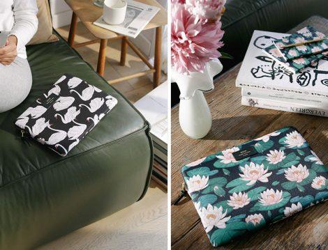 Wouf Hayvan ve Çiçek Desenli Laptop Çantası