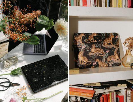 Wouf Hayvan ve Gece Desenli Laptop Çantası