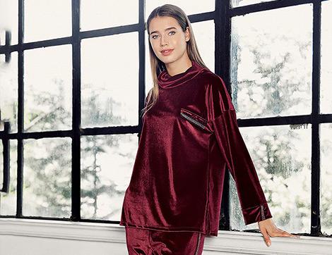 Ev ve Uyku Giysisi Olarak Tasarlanan Kışlık Pijama Takımları