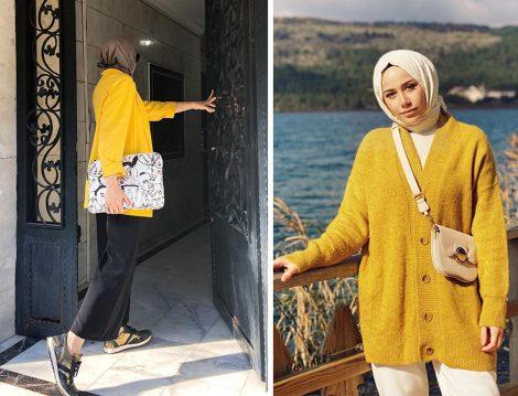 Büşra Erdoğan Toraman Sarı Ceket - Benin Düğmeli Hırka (Feyza Hakyemez)