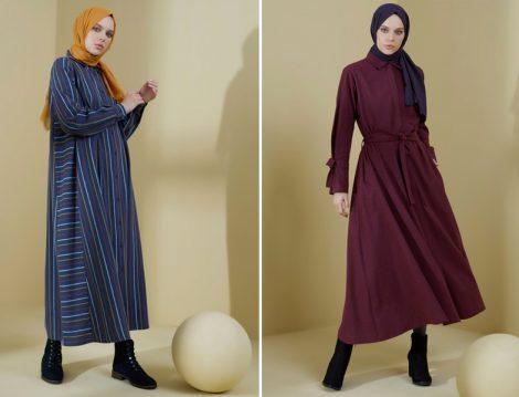 Tesettür Uzun Elbise 2021