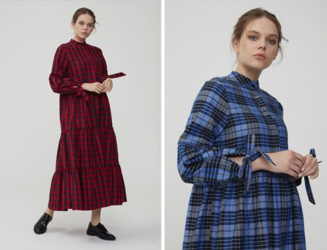 Normcore Ekose ve Pötikare Elbise