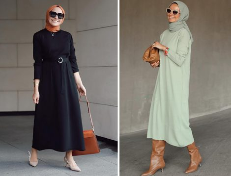 Qooq Store Siyah Triko Elbise (Hülya Aslan) - Terzi Dükkanı Triko Elbise ( Betül Gedik)