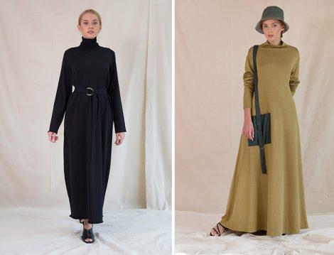 Qooq Store Triko Elbise
