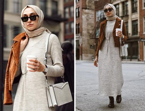 Qras Studio Triko Elbise - Blanknyc Süet Ceket (Elif Doğan)