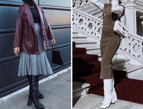 Tesettür Giyim Hatası: Kısa Etek ve Elbiselerle Çizme Kombini
