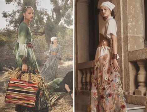 Dior 2021 Çiçekli Elbise ve Etekler