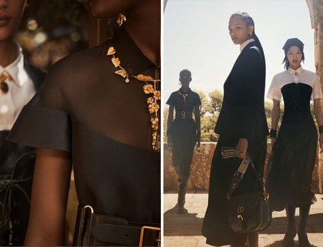 Dior 2021 Siyah Elbise - Altın Kaplama Mücevher