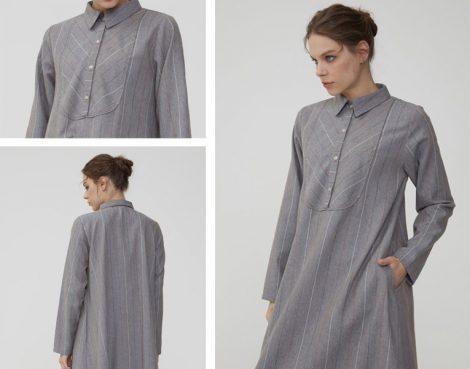 Normcore Gri Elbise