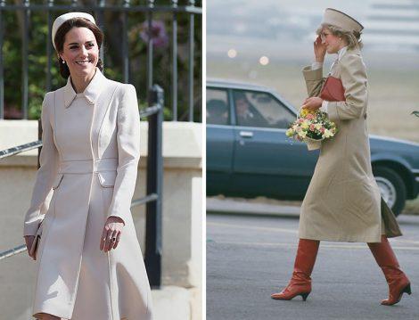 Kate Middleton ve Prenses Diana Bej Kıyafetleri