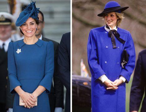 Kate Middleton ve Prenses Diana Mavi Kıyafetleri
